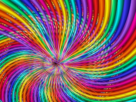 Rainbow-swirl
