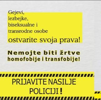 Prijavite nasilje policiji flajer