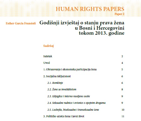 Izvjestaj pravima zena 2013