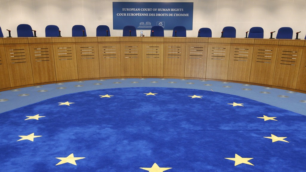 General view of the plenary room of the European Court of Human Rights in Strasbourg, March 18, 2011, ahead of an hearing about a referral request submitted by the Italian Government after the Court ruled on November 2009 that Italian schools should remove crucifixes from classroom walls. The Strasbourg-based court said classroom crucifixes did not amount to a breach of human rights, contrary to a lower court's verdict in November 2009 in a case brought by an Italian woman of Finnish origin.  REUTERS/Vincent Kessler  (FRANCE - Tags: POLITICS RELIGION)