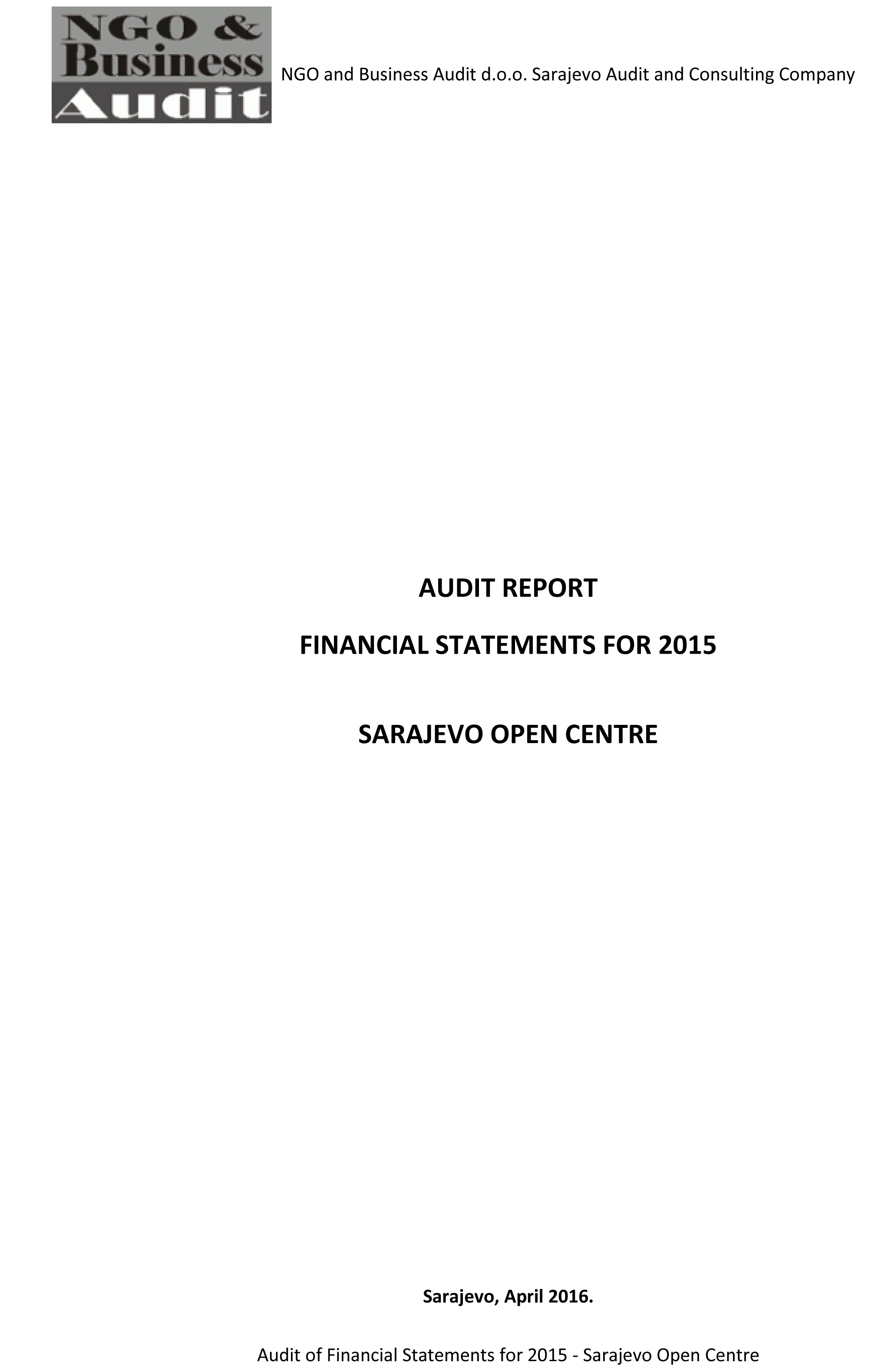 Final audit report SOC 2015 signed