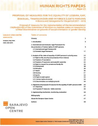 Proposal of measures
